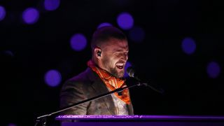 Justin Timberlake performs at the Super Bowl LII