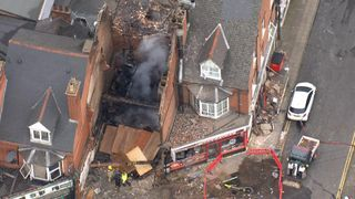 Five people were killed when an explosion destroyed a shop in a Leicester street, police have said.