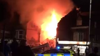 Leicester fire. Pic: Bethany Welford