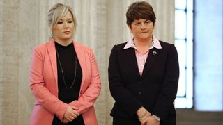 Michelle O'Neill and Arlene Foster after Sinn Fein and the DUP failed to agree a deal