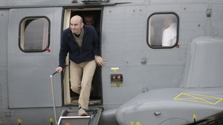 April 2014: Nicolas Henin arrives at Villacoublay air base, near Paris, after he was freed