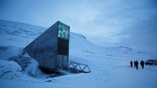 The entrance to the international gene bank Svalbard Global Seed Vault (SGSV)