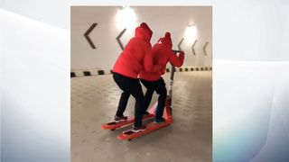 The Swiss Olympic team event a new sport