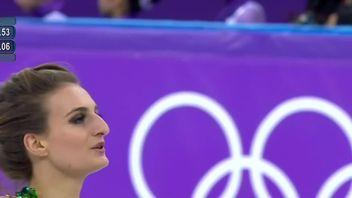 Gabriella Papadakis at the Winter Olympics