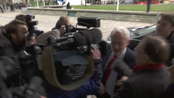 Jeremy Corbyn was asked whether he was a spy by reporters following recent newspaper allegations.