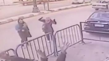 Egyptian Interior Ministry CCTV captures moment falling boy is caught by security guard