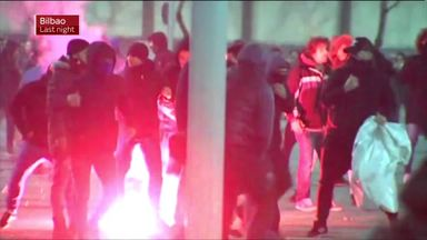 Policeman dies amid Bilbao violence