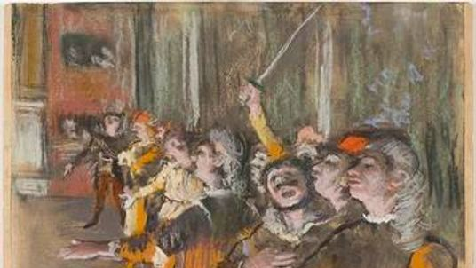 Edgar Degas' Les Choristes was stolen in 2009. Pic: Musee d'Orsay/Patrice Schmidt
