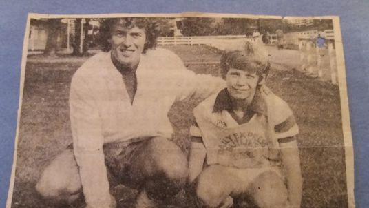 Barry Bennell with David Lean after he was awarded Butlins' boy-of-the-week in 1979