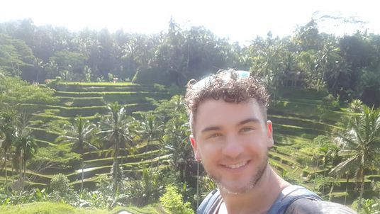 Mr Conway was on holiday in Bali. Pic: Firefighter John Conway, West Midlands Fire Service