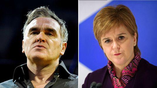 Morrissey and Nicola Sturgeon