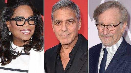Oprah Winfrey, George Clooney and Steven Spielberg
