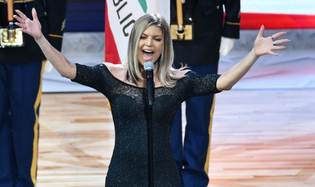 Steph Curry Apparently Has Issue with Fergie's National Anthem Rendition