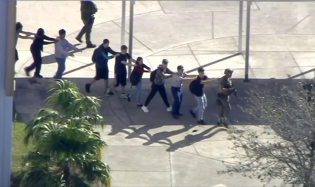 Students across US walk out of school in anti-gun violence demonstrations