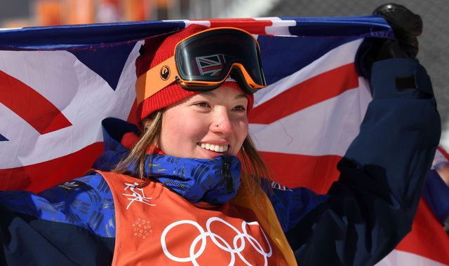 Izzy Atkin holds nerve to win first British skiing medal