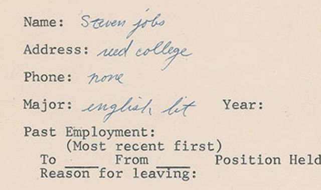 Steve Jobsu0027 Resume Could Fetch $50000 At Auction  Steve Jobs Resume