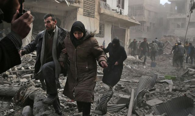 Syria's shelling of Damascus suburb killed 98