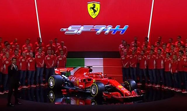Drivers at ease with their halos as Ferrari unveil sleek new model