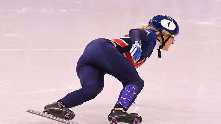 GB's Elise Christie competes during the Ladies' 500m Short Track Speed Skating final at the PyeongChang 2018 Winter Olympic Games