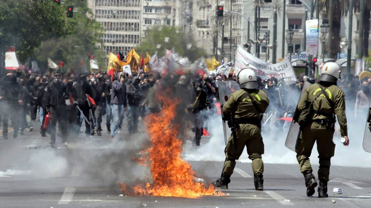 Riots in Greece during the financial crisis