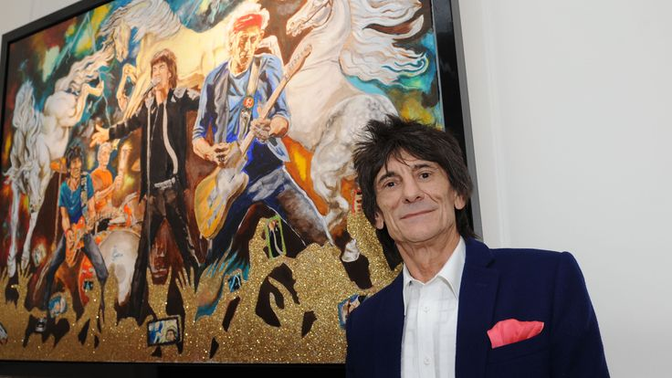 LONDON, UNITED KINGDOM - APRIL 11: Ronnie Wood unveils his new collection of fine art 'Ronnie Wood: Raw Instinct' at Castle Fine Art on April 11, 2013 in London, England. (Photo by Stuart C. Wilson/Getty Images for Castle Galleries)