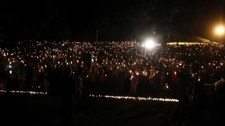 A candlelit village following the Oregon shootings