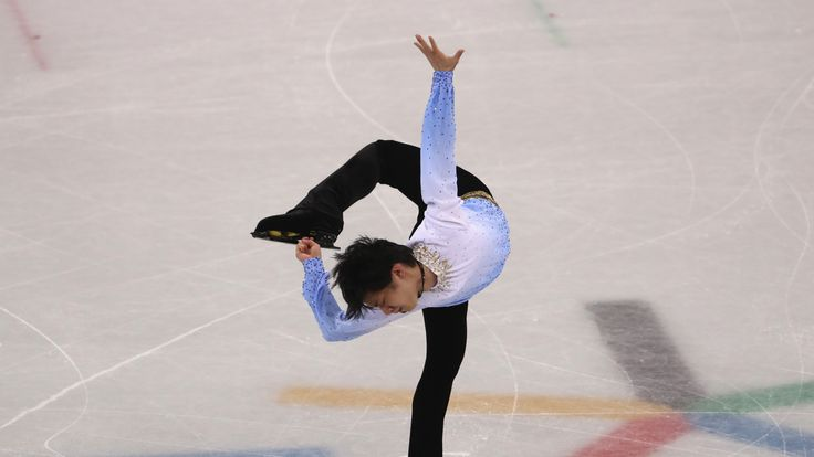 Yuzuru Hanyu during his routine