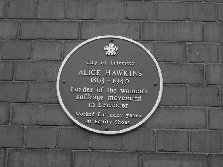 A plaque commemorating Alice Hawkins on the Equity Shoes factory building (now CODE Student Accommodation) in Leicester city centre. Pic: Peter Barratt