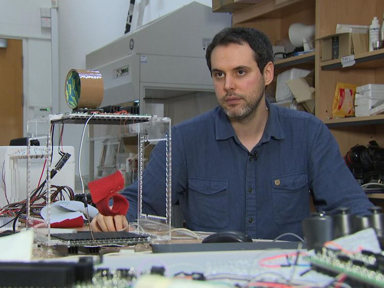 Engineer Asier Marzo says the technology could be an invisible hand