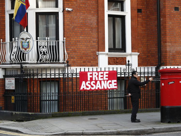 Assange has been in the embassy in London for five and a half years