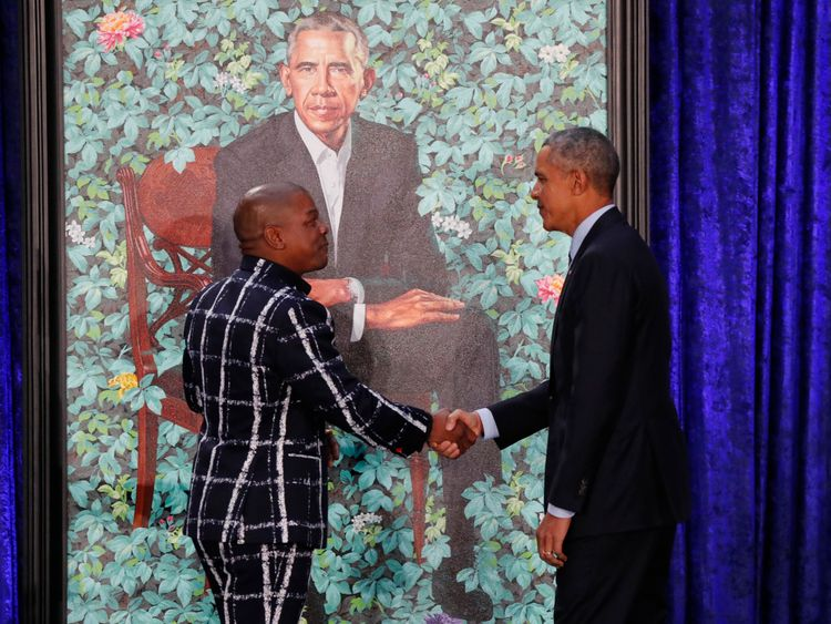 Mr Obama described Mr Wiley's work as 'extraordinary'