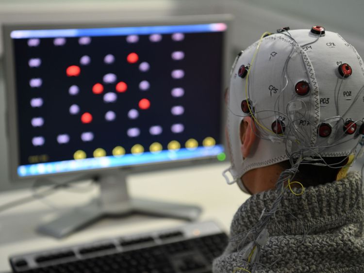 Brain-computer interface technology in action. File pic