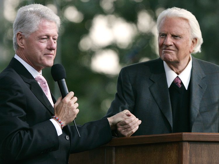 Billy Graham was a confidant of Presidents and was dubbed 'America's pastor'.