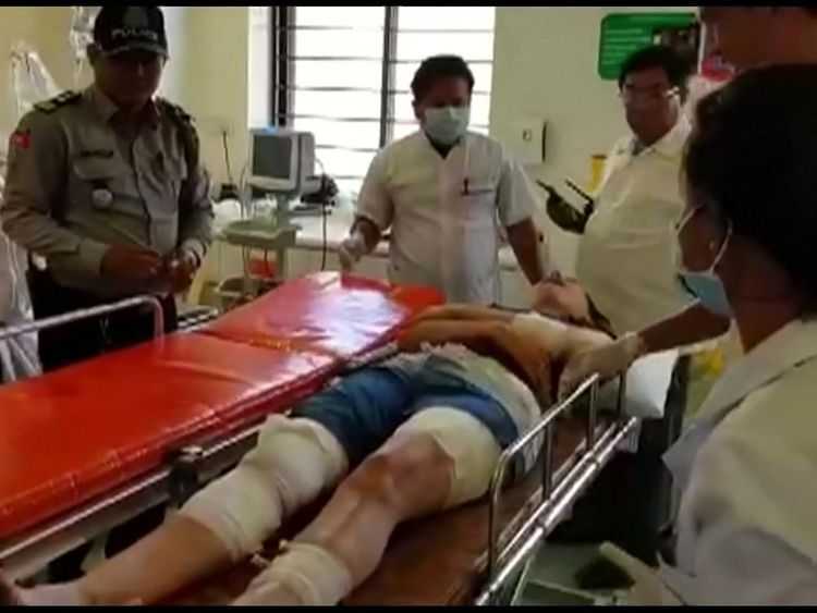 British woman who was gored by a water buffalo on Monday (February 19) on a Cambodian island was transferred to a mainland hospital in Sihanoukville on Tuesday (February 21). Fiona Childs, who sustained injuries on her shins and thighs as she was trying to fend off the animal, was ferried to a hospital after being helped by villagers on the island of Koh Rong Samloem.