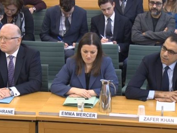 Former Carillion executives are grilled by members of a commons committees