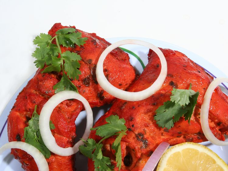 The chicken tandoori dish was said to 'taste like paraffin'. File pic