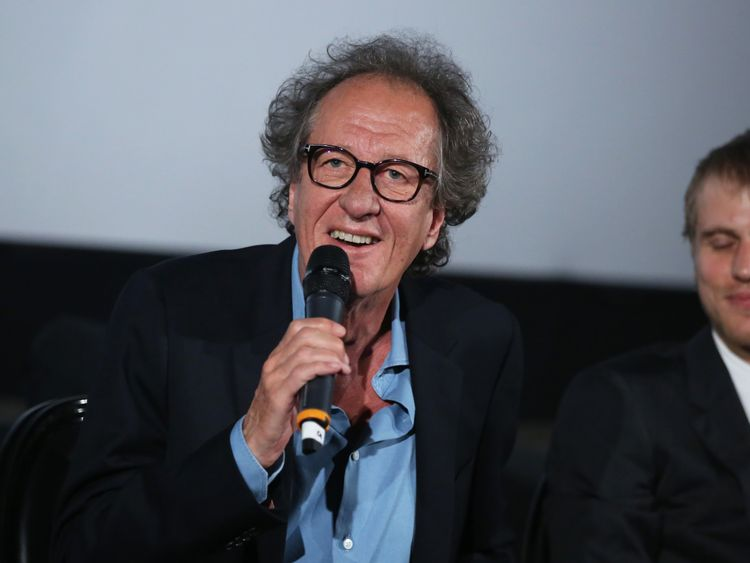 Geoffrey Rush pictured in March last year.  He is suing an Australian newspaper over articles which claim he was 'inappropriate' towards a co-star.