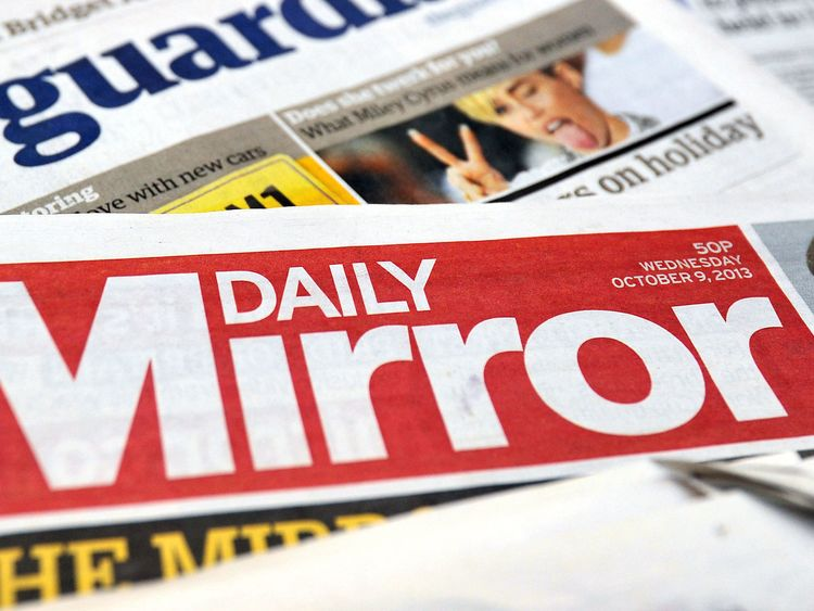 File photo dated 10/10/13 of a pile of national newspapers including the Daily Mirror, as the publisher of the newspaper is in talks to acquire 100\% of Daily Express group Northern & Shell.