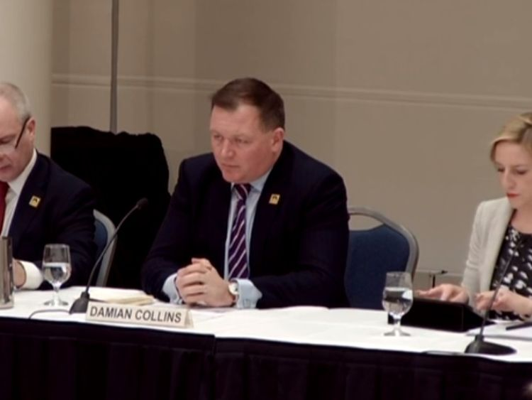 MPs, led by Damian Collins, are in Washington DC