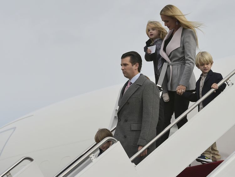 Trump Jr's wife in hospital after white powder scare