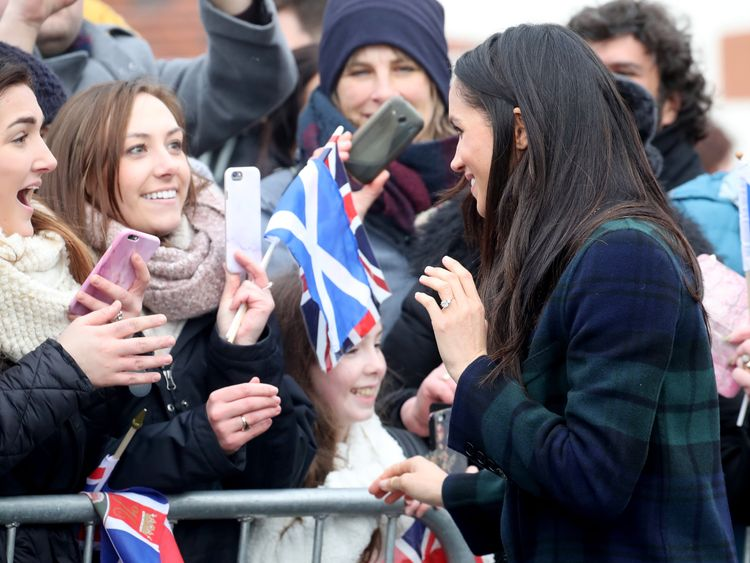 Meghan Markle delighted crowds at Edinburgh Castle