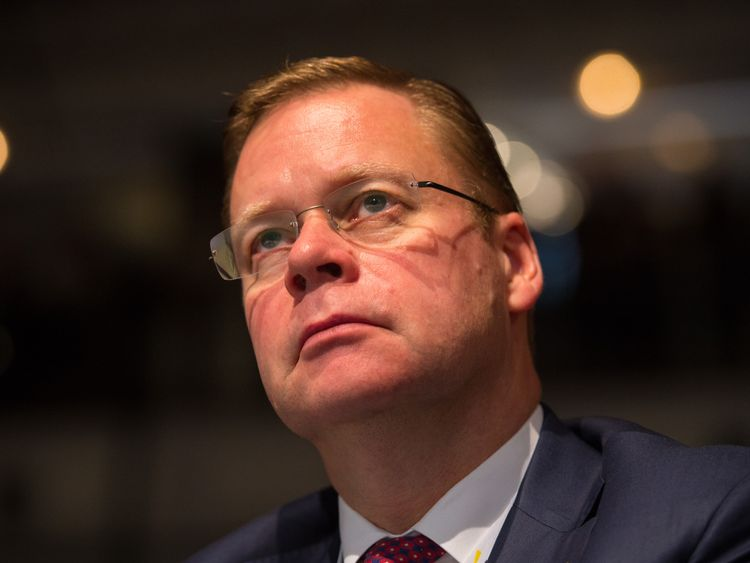 Centrica Chief Executive Iain Conn at the annual conference of the CBI (Confederation of British Industry) at the Grosvenor House Hotel in London. PRESS ASSOCIATION Photo. Picture date: Monday November 9, 2015. Photo credit should read: Dominic Lipinski/PA Wire
