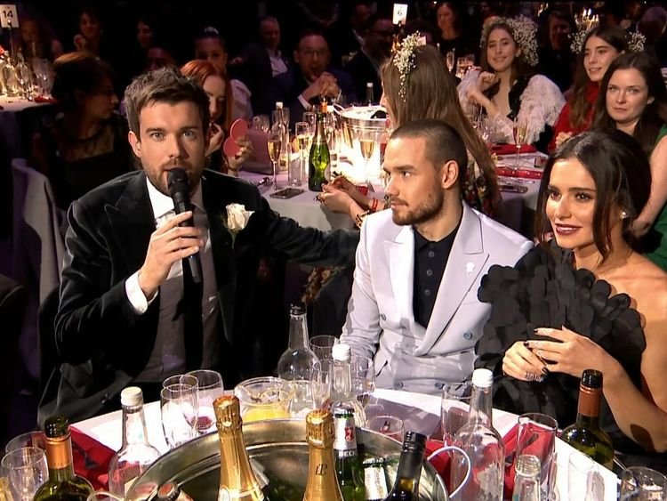 Jack Whitehall with Liam Payne and Cheryl