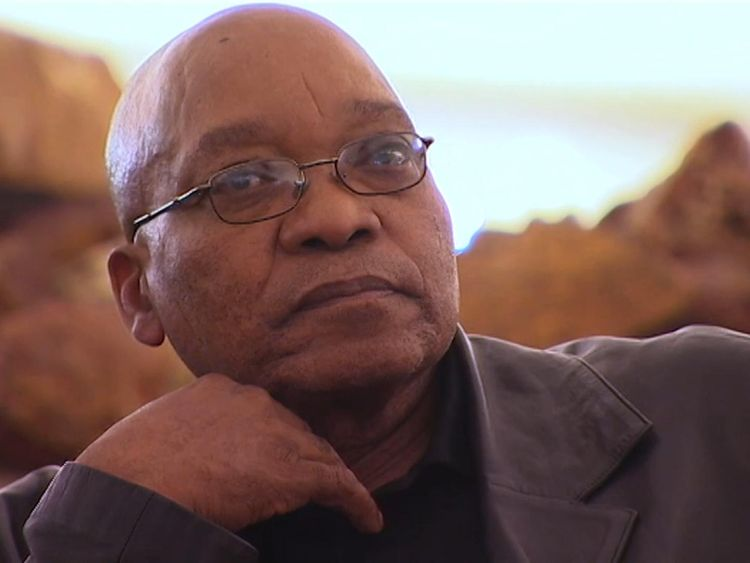Embattled president of South Africa, Jacob Zuma