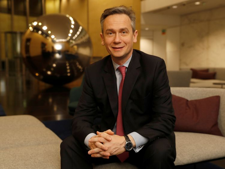 Rio Tinto CEO Jean-Sebastien Jacques poses for a photograph prior to the company releasing its 2017 full year results, in London, Britain, February 7, 2018