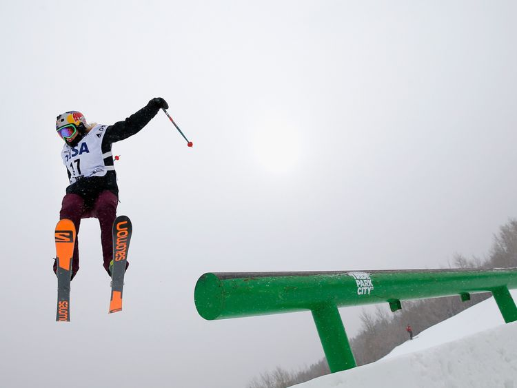 Katie Summerhayes is a slopestyle skier