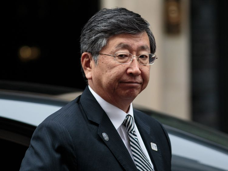 Japanese ambassador to the UK Koji Tsuruoka