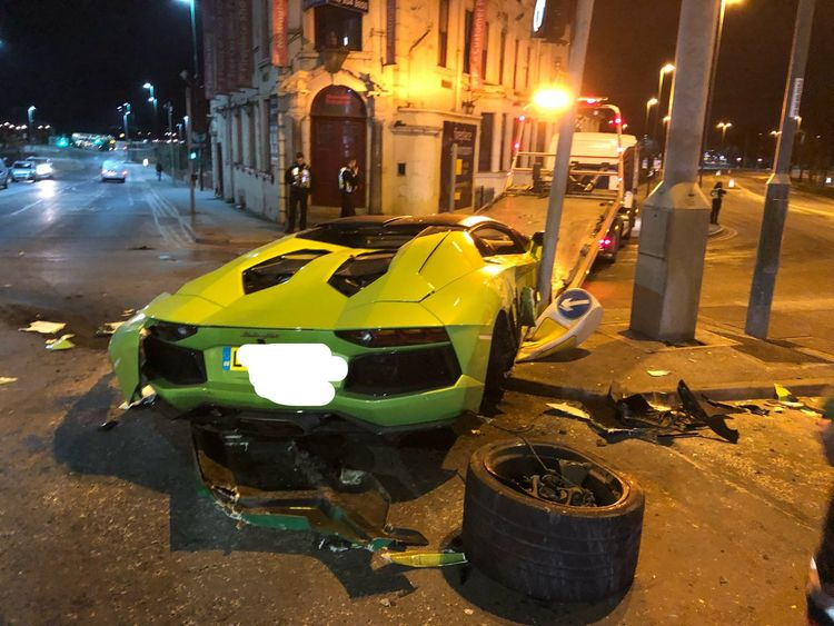 The car's driver walked away unscathed. Pic: BTPNotts