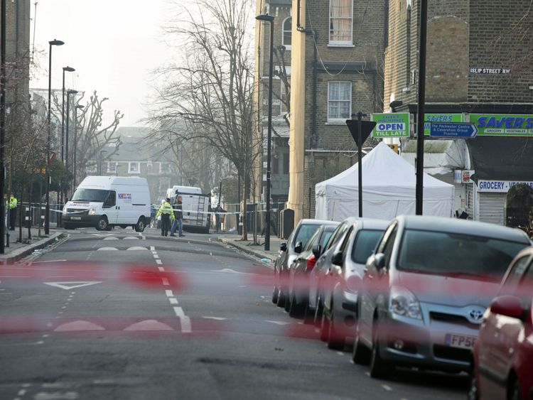 Bartholomew Road remained closed hours after the incident