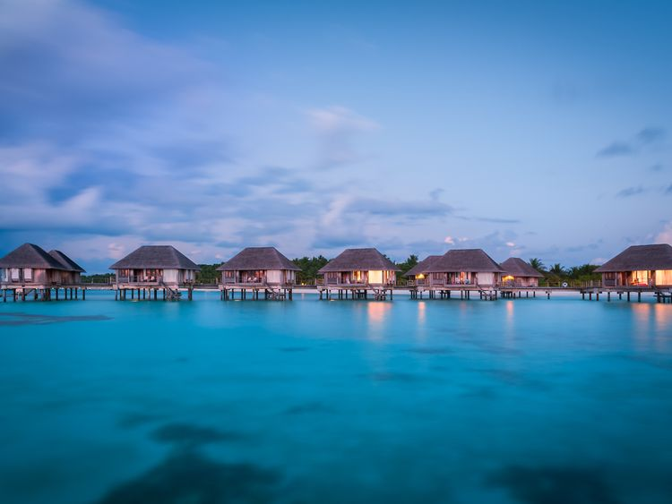 The Maldives is known for its white beaches and villas on stilts